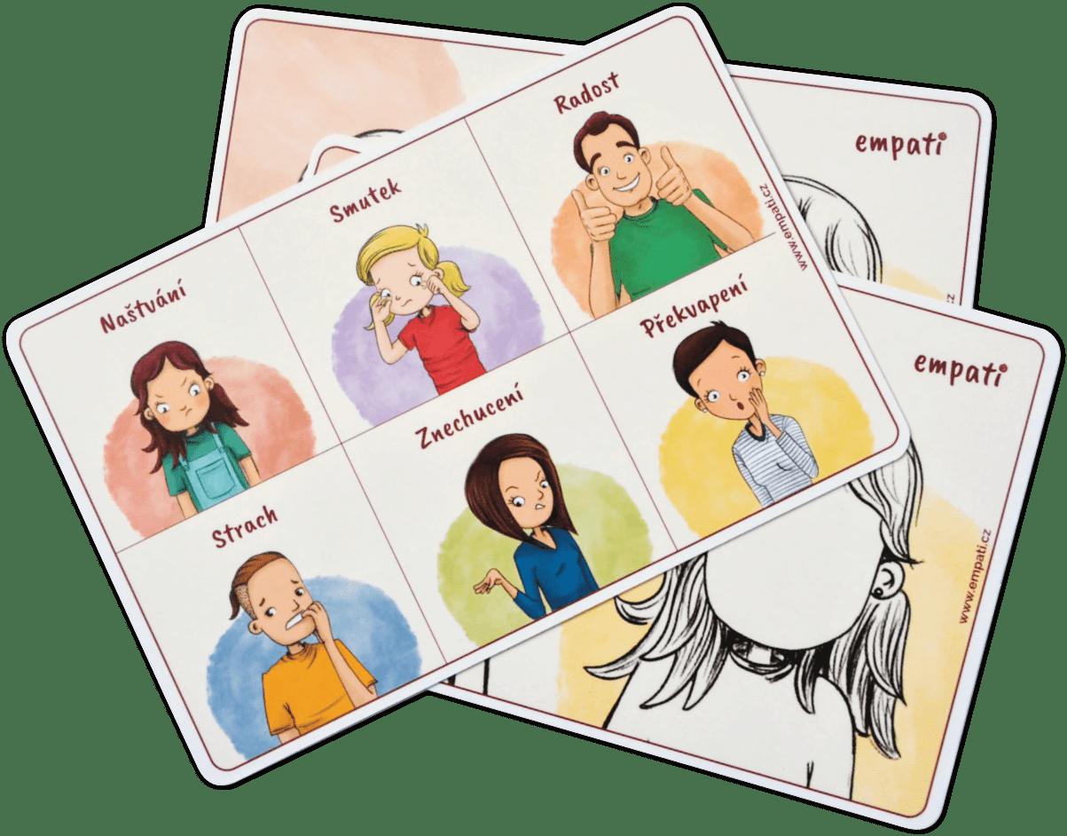 Emoční karta (5ks)
